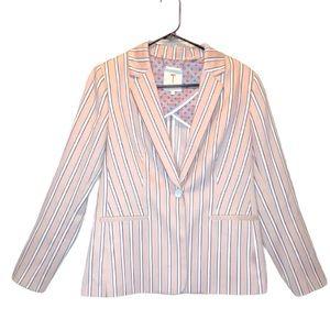 Ted Baker Rare Betiia Pink Stripe Blazer Jacket